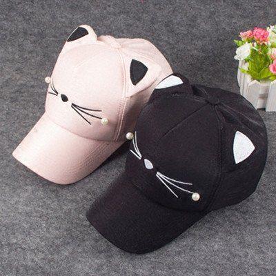 """Cute cat baseball cap  Coupon code """"cutekawaii"""" for 10% off"""