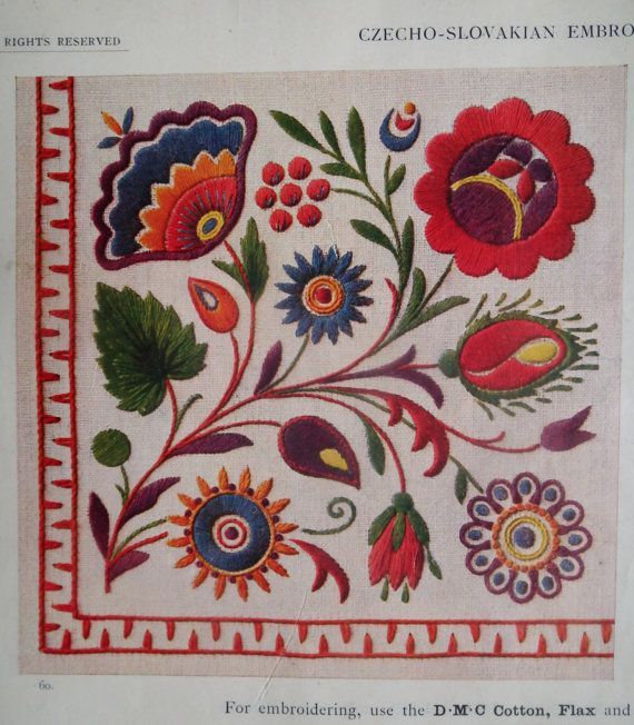Vintage Embroidery Book 1920s - Czecho-Slovakian Embroideries   via Etsy