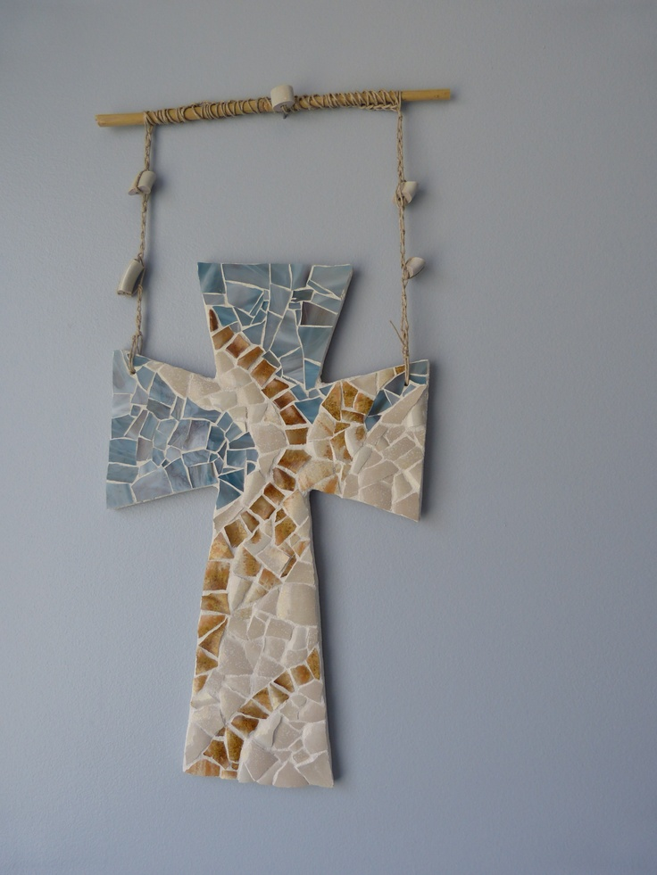 Beauty from Ashes mosaic cross