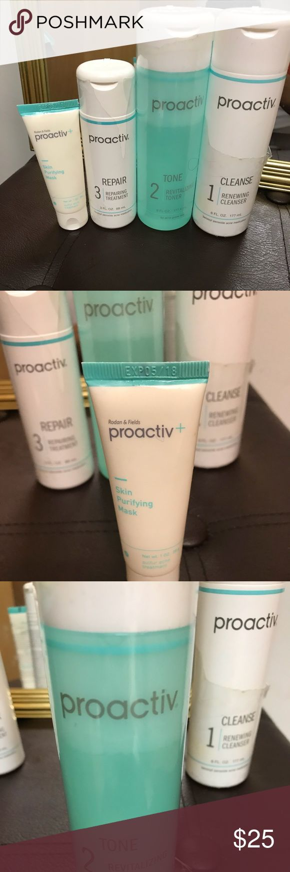 Proactiv Kit Barely used It is a 3 month kit so it has about to 2  and half more months left. Also includes a never used skin purifying mask proactiv Other