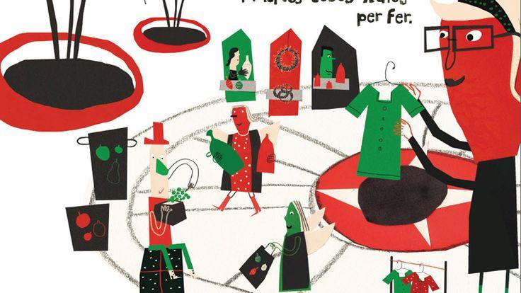 La Fira de Consum Responsable s'instal·la a la plaça de Catalunya. Barcelona. Nadal 2015.