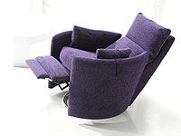dorota fabric swivel recliner chair