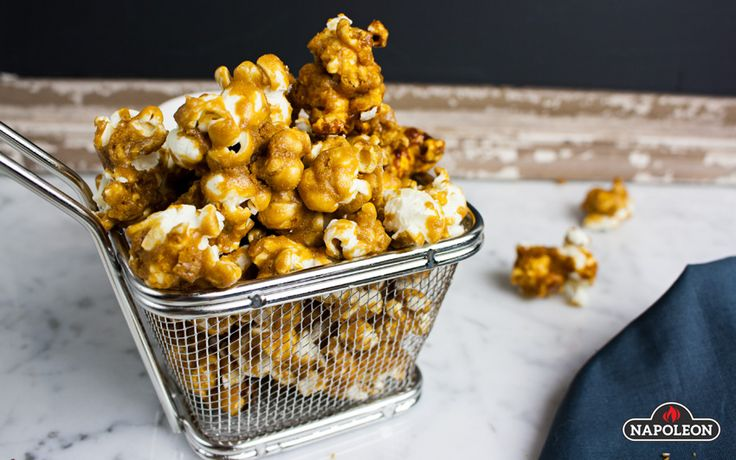 Homemade Caramel Corn on the Grill