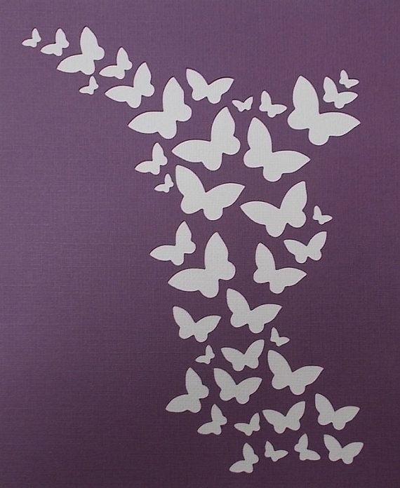 Butterfly Background Stencil by kraftkutz on Etsy