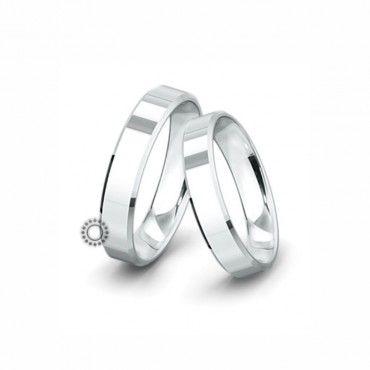 Βέρες γάμου Saint Maurice Classic λευκόχρυσες πλάτους 5.0mm επίπεδες εξωτερικά & ανατομικές | Βέρες γάμου Saint Maurice ΤΣΑΛΔΑΡΗΣ στο Χαλάνδρι #SaintMaurice #βερες #γαμου #λευκοχρυσος #rings