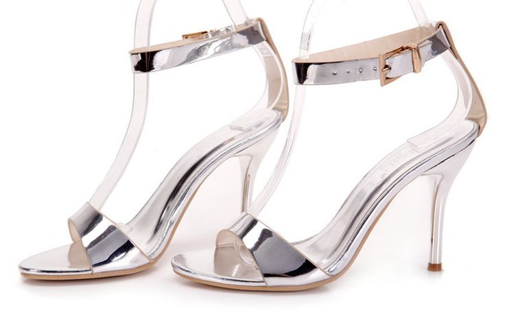get to buy cheap price Banquet Printing Fine Heel Sandals - Silver 35 buy cheap buy sale Manchester sale in China free shipping sast UANTqa33