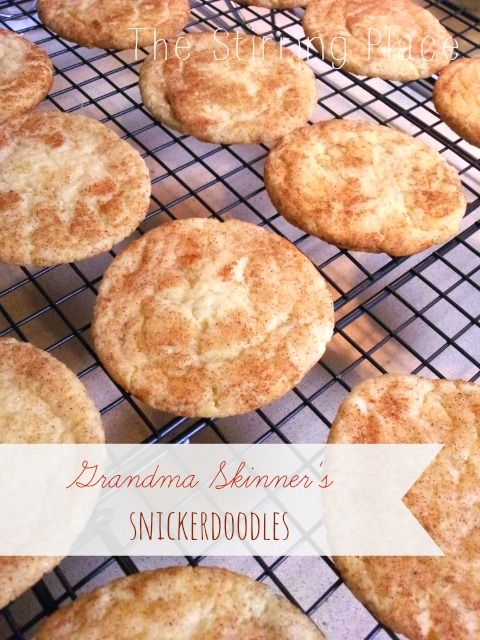 The Stirring Place: Grandma Skinner's Snickerdoodles with Pumpkin Cream Cheese Filling