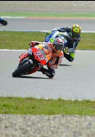 Marquez and rossi, the apprentice and the master - my fav riders (especially vale) 2013