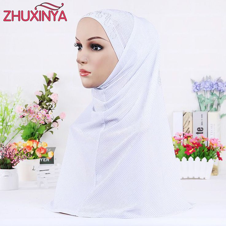 11 color 58*55cm Muslim hijabs hot solid stick beads Scarf Head Scarf of women hijabsfull cover inner coton musulmane hijab cap