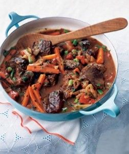 Traditional South African Lamb and Vegetable Stew / Potjiekos