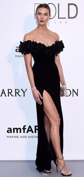 Karlie Kloss Siyah Kapalı Omuz Elbise, Uzun Yan Yarık Gelinlik Modelleri, PD0735 Karlie Kloss Siyah Kapalı Omuz Elbise, Uzun Yan Yarık Gelinlik Modelleri, PD0735