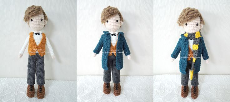 Crochet, Crochet Doll, Newt Scamander, Fantastic Beasts and Where to Find Them, 코바늘인형, 신비한 동물사전, 뉴트 스캐맨더