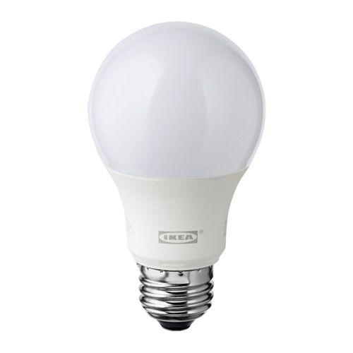 LEDARE LED電球 E26 600ルーメン IKEA LEDを使用。白熱電球に比べて消費電力が約85%少なく、20倍長持ちします 調光機能付き。必要に応じて光量を調節できます 適度な明るさに調光できるので、電気代の節約にも効果的です
