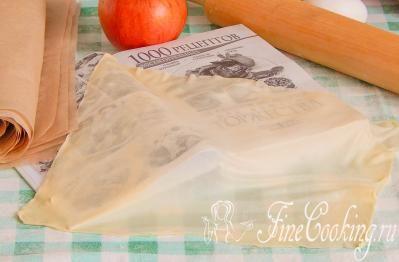 Шаг 14. Если будете готовить что-то из теста фило сразу, прикройте сверток влажным полотенцем