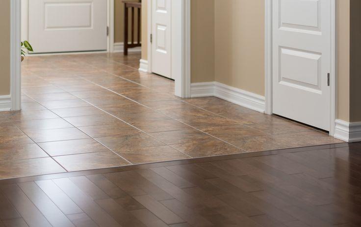 Transition Wood Floor To Tile Ideas: Dark Hardwood Floor To Kitchen Tile