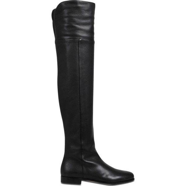 Jimmy Choo Mitty over the knee boots ($1,395) ❤ liked on Polyvore featuring shoes, boots, black, black above the knee boots, above-knee boots, black thigh-high boots, over the knee boots and black boots