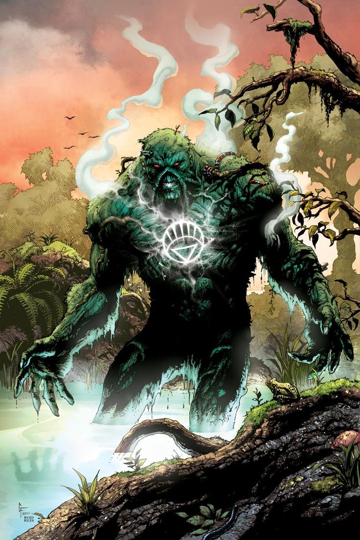 Swamp Thing as a White Lantern