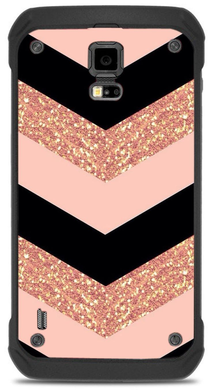 Pink Black Chevron (not real glitter) Samsung Galaxy S5 Active VINYL STICKER DECAL WRAP SKIN by Trendy Accessories available at https://www.amazon.com/dp/B01MUWJ7C6 #vinyldecalsticker #galaxys5 #mobileaccessories #chevron