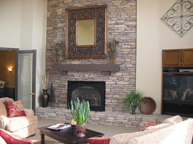 Eldorado Stone Sequoia Rustic Ledge Fireplaces