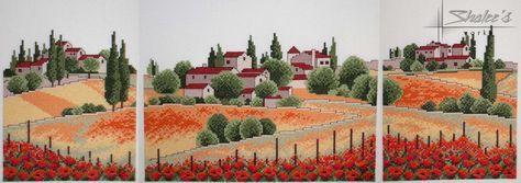 Gallery.ru / Триптих есть и в перенаборе РМ - Триптих маковое поле - embroidery