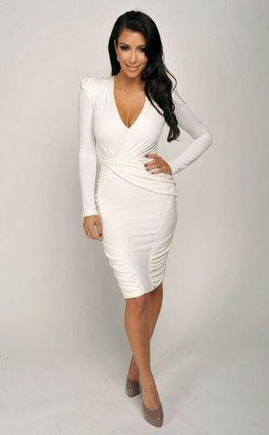 Kim Kardashian white dress - for sale on www.celebirtylooks4less.com