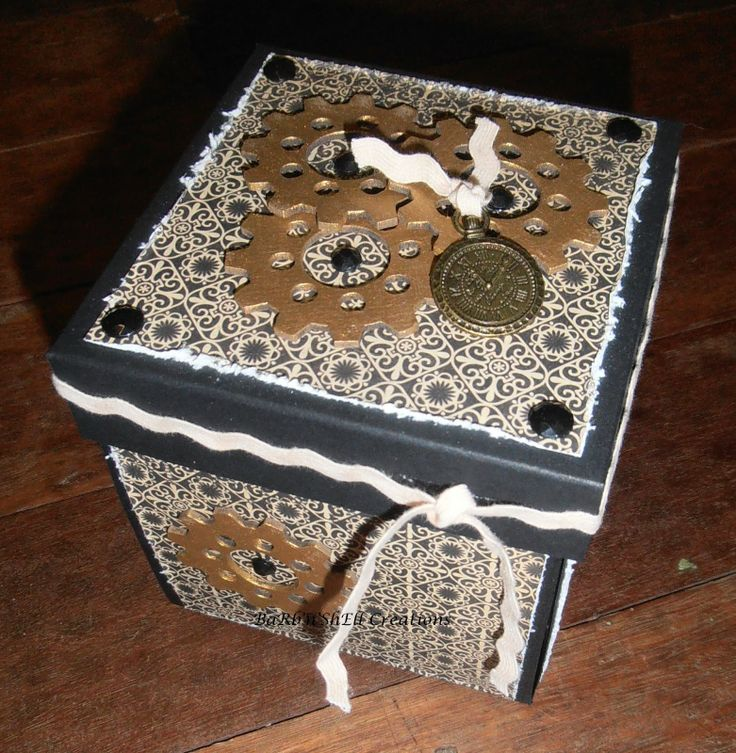 BaRb'n'ShEllcreations - Kaszazz Ebony and Ivory Surprise Box - made by Shell