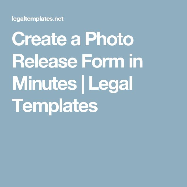 Create a Photo Release Form in Minutes   Legal Templates
