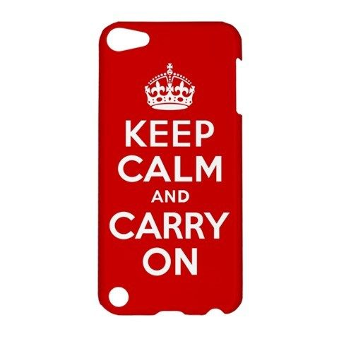 iPod 5 Keep Calm and Caary On iPod Touch 5 5G 5th Hardshell Case Cover