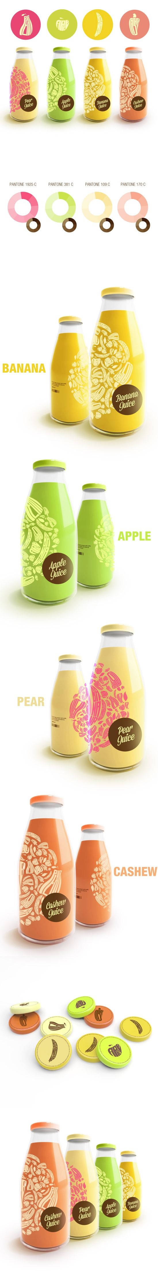 Packaging Project by Renan Vizzotto. The illustrations really help differentiate each flavor without loosing its wit.
