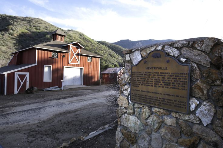 well preserved ghost town, the site of Southern California's first commercial oil well, freeway-close in nearby Valencia. But Mentryville is all that and more — including a movie set and a great spot for walking,