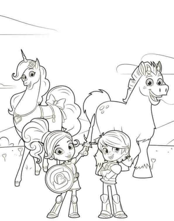 Nella Garret Trinket Clod Coloring Page Cartoon Coloring Pages Coloring Pages Princess Coloring Pages