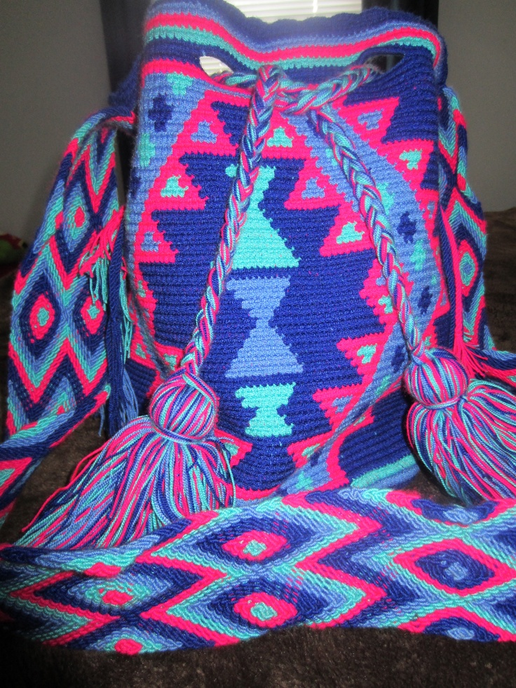 A souvenir from one of my trips.Mochila Wayuu made by a Colombian tribe.
