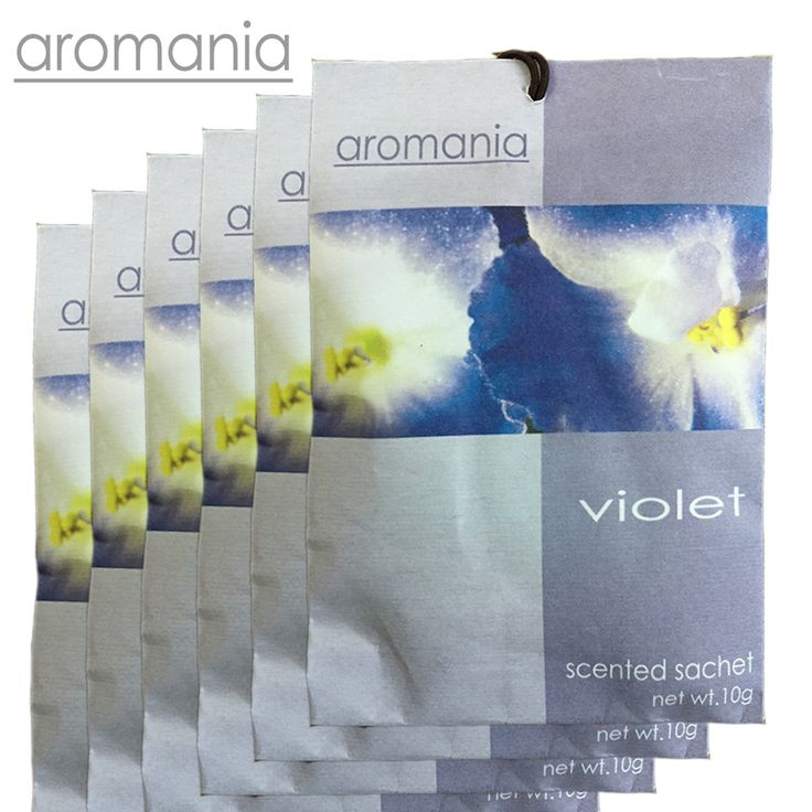 6PCS/lot Aromania Fresh Violet Scented Sachet Fragrance Drawer Sachet Bag For Bedroom Car Flavor Fragrance Indian