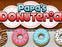 You just got a job at Papa's Donuteria in the whimsical town of Powder Point. Sure, the great pay and benefits are nice, but you took the job for that coveted Line-Jump Pass. Unfortunately, now you have to cook dozens of delicious donuts a day for all the crazy customers in this carnival-like town. Cut out the donuts, fry 'em up, and decorate them with a dizzying array of toppings.
