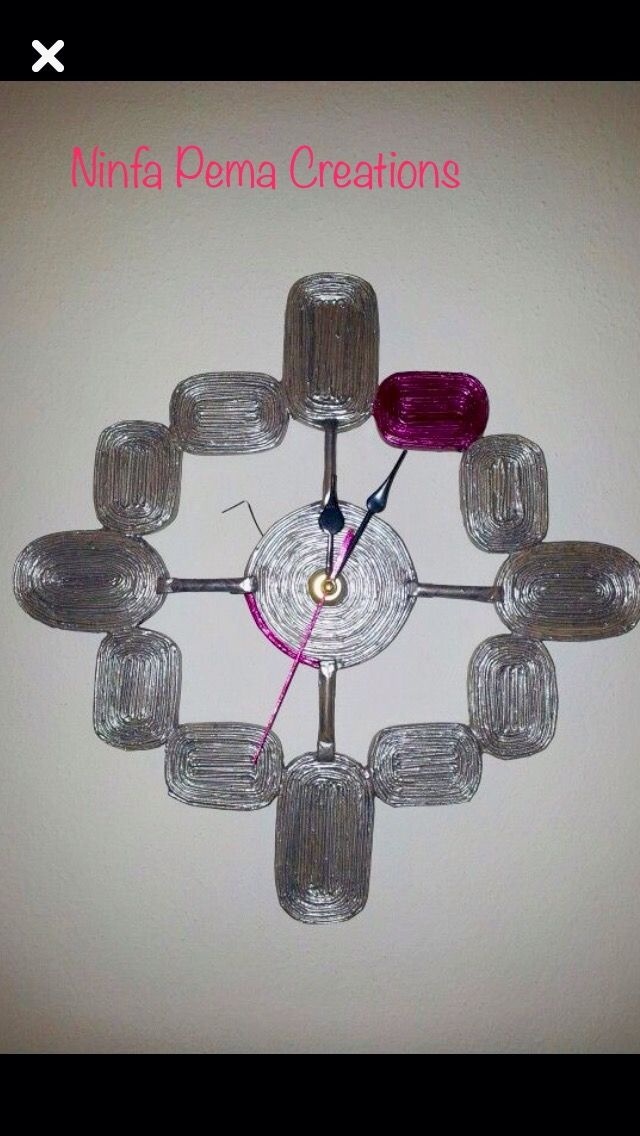 Paper hand made clock  @ninfa_pema_hand_made_creations