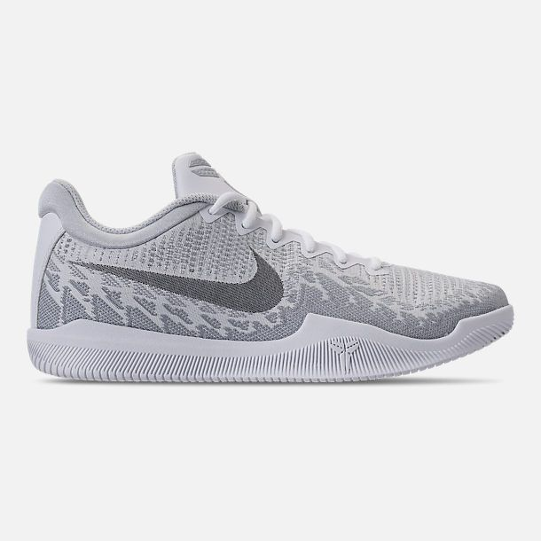 best sneakers b5ccb 2c388 Right view of Men s Nike Kobe Mamba Rage Basketball Shoes in White Grey