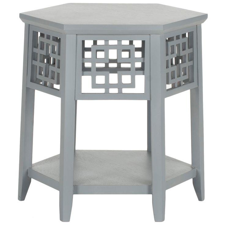 Zelda Pearl Gray End Table @Zinc_Door #asian #zincdoor #modern #chinoiserie  #