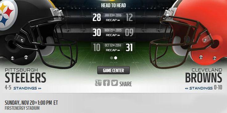 Browns vs Steelers live stream    more:: http://steelersvsbrowns.net/