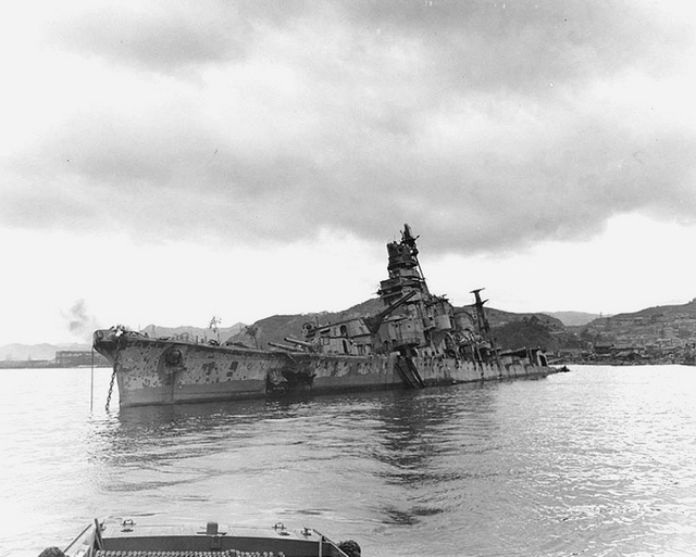 Oct 12, 1946. Heavy cruiser IJNS AOBA [one of the ships that destroyed HMAS CANBERRA] on the bottom of Kure Harbour.HMAS CANBERRA [I] was the first ship lost, wrecked without being able to return fire. The American cruisers USS QUINCY, VINCENNES and ASTORIA were sunk soon after , as Mikawa's force sped down 'The Slot,' raking the confused and disordered Allied forces as it did so. The Battle of Savo Island was a costly avoidable disaster which is still controversial.