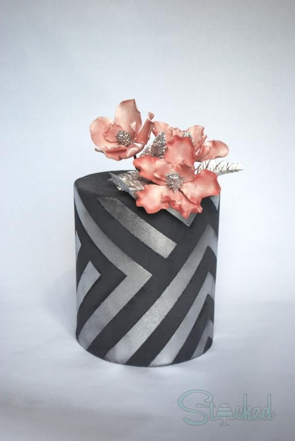 I created this cake in honor of the 1st Birthday of the Depressed Cake Shop in LA! Definitely the first time trying out this technique, but I really enjoyed the outcome! People don't always think of gray for a beautiful and elegant cake, but this...