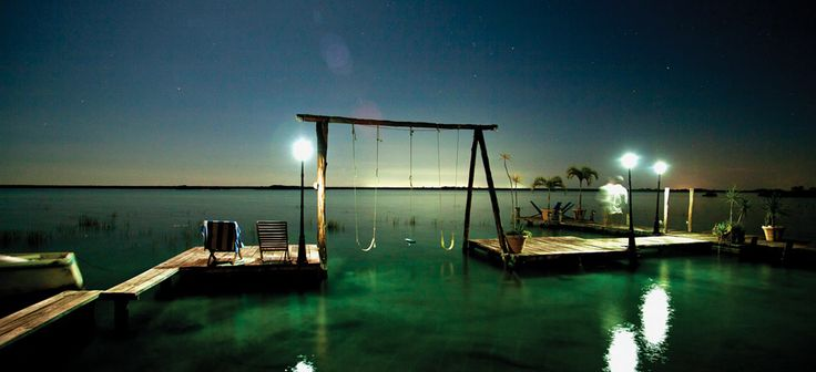 really like the wrap around dock creating a swimming area, the swing is really fun as well