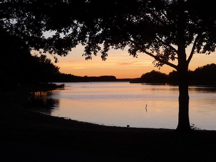 Rauma opname van de zee bij zonsondergang
