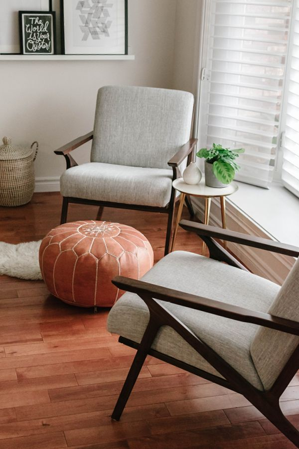 Otio Mist Gray Walnut Lounge Chair Lounge Chairs Living Room