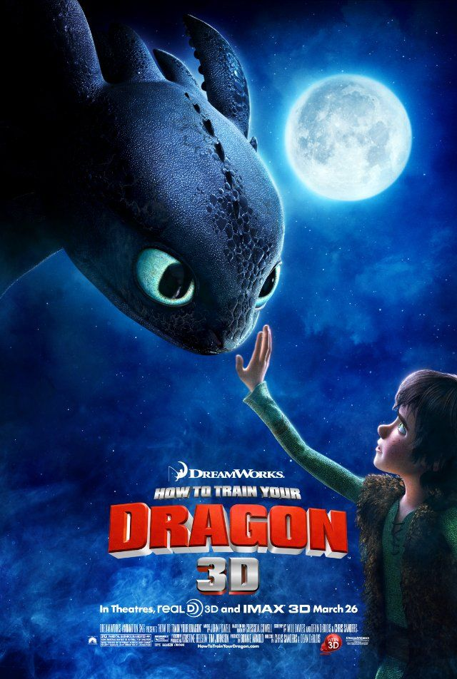 """How To Train Your Dragon"": Film, Training, Movie Posters, Dreamworks, Kids Movie, Dragon 2010, How To, Favorite Movie, Animal Movie"