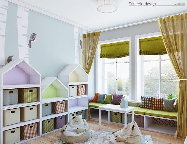 FYinteriordesign : Игровая комната для девочки в загородном доме под Иркутском