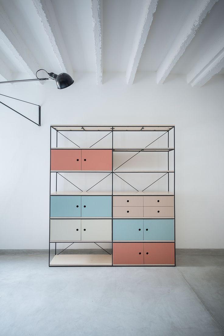 Lines & colour blocks.