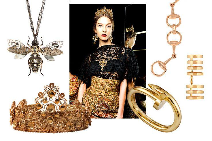 #VogueJoyas El dorado se corona como el rey esta temporada. http://www.vogue.mx/articulos/joyas-en-oro-para-el-otono/3052