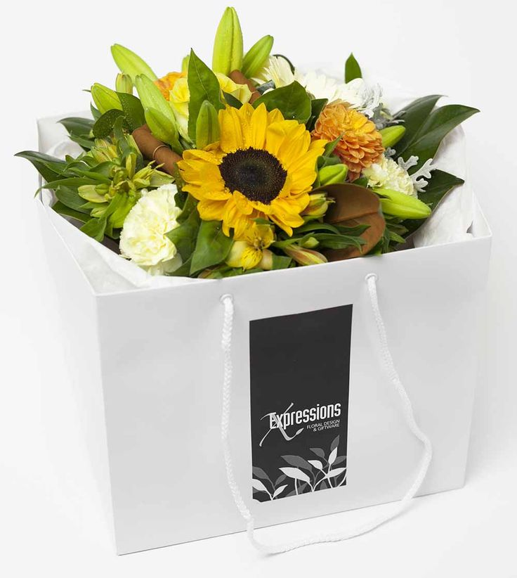 Flower Box Yellow http://www.expressionsfloral.co.nz/ #florist #flowers #bouquets