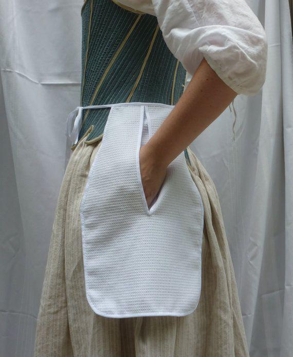 XVIIIe siècle coton blanc cousu main Dimity par FashionableFrolick