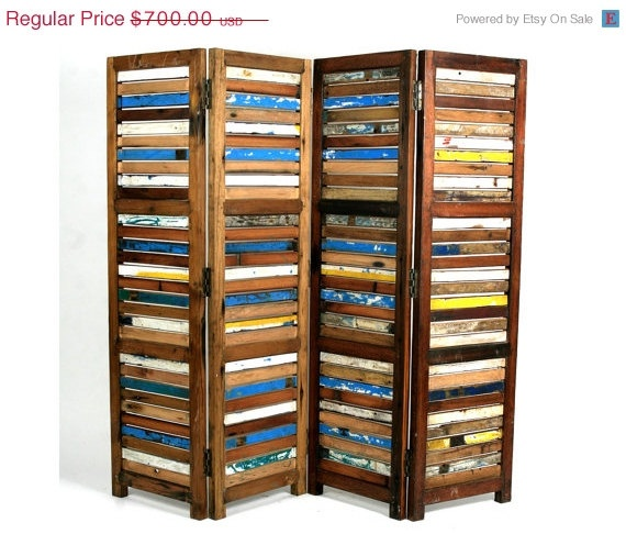 Etsy Featured Seller Sale Room Divider / Screen By EcologicaMalibu, $560.00